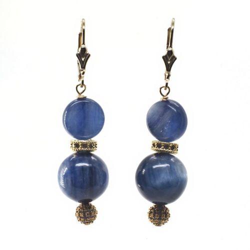 Gold kyanite earrings