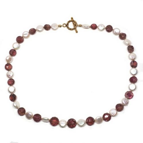 Pink and White Delight necklace