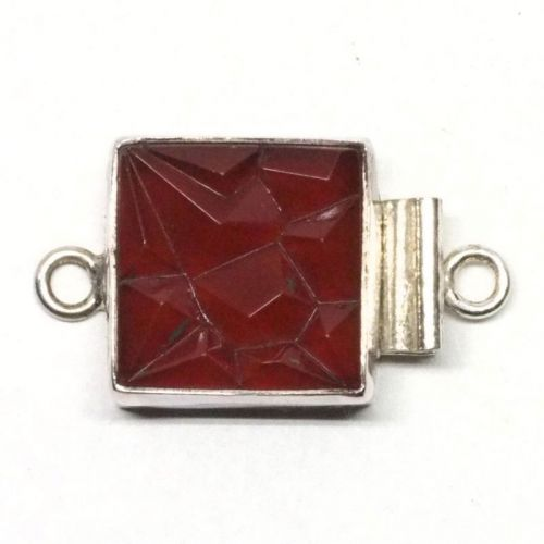 Square carnelian clasp
