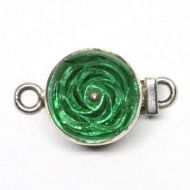 Green rose clasp