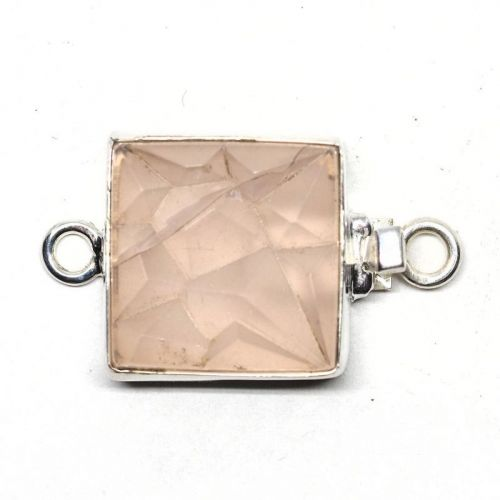 Square pink ice clasp