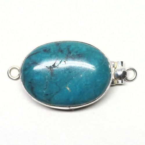 Large oval turquoise clasp