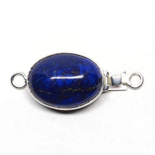 Oval lapis clasp