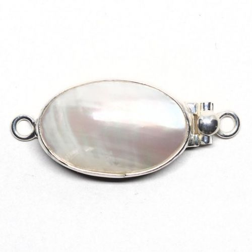 Large oval pearl clasp