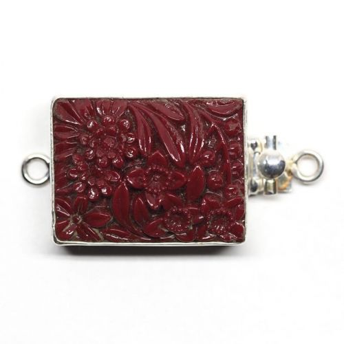 Maroon flower clasp