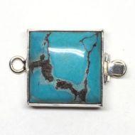 Square turquoise clasp