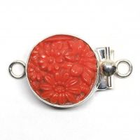 Coral floral clasp