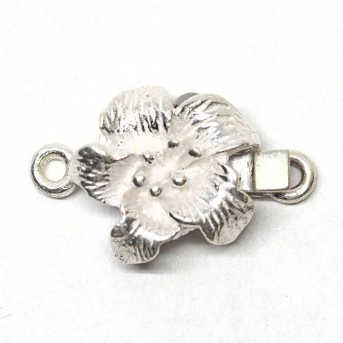 Sterling silver tiny lily clasp