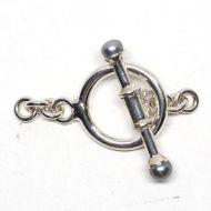Gray pearl bar toggle clasp