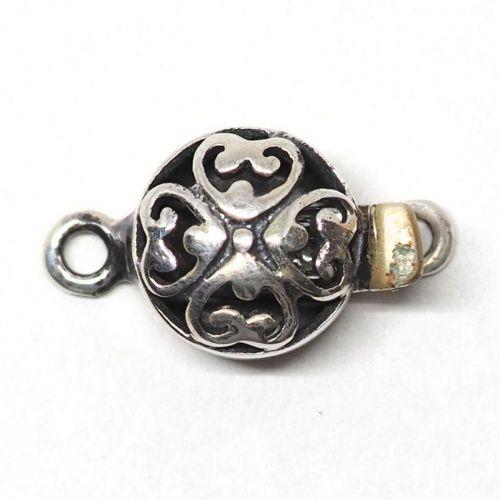 Tiny silver heart clasp
