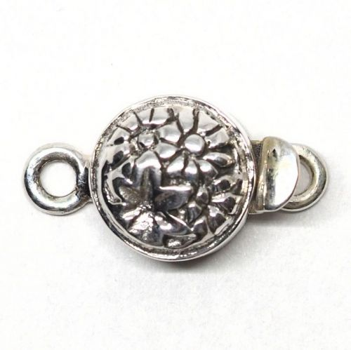 Tiny sterling daisy clasp