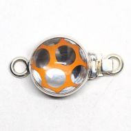 Bright orange Swarovski polka dot clasp