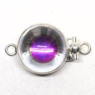 Swarovski eyeball clasp