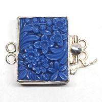 Blue flower bracelet clasp