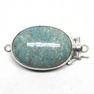 Faux turquoise box clasp