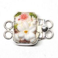 Tiny floral garden bracelet clasp