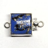 Blue abstract clasp