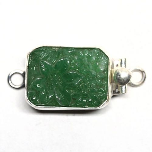 Green flower clasp