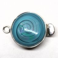 Aqua swirl clasp