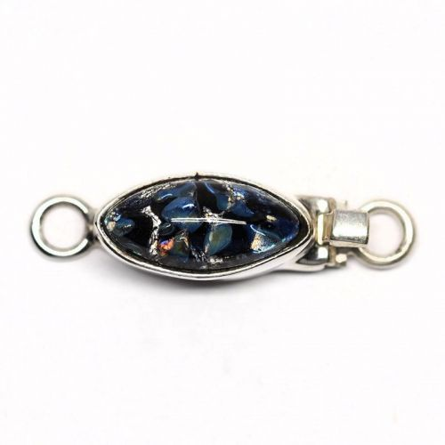 Czech black opal clasp