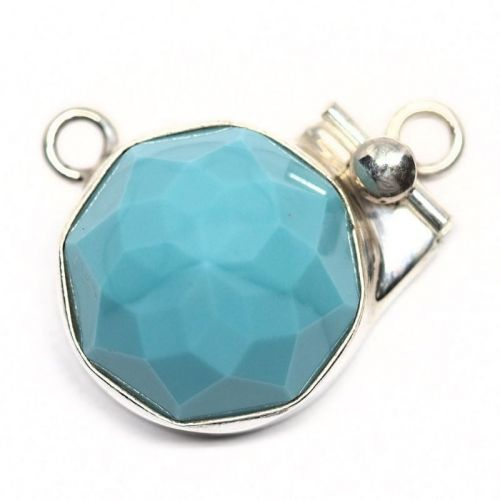 Swarovski turquoise pendant clasp