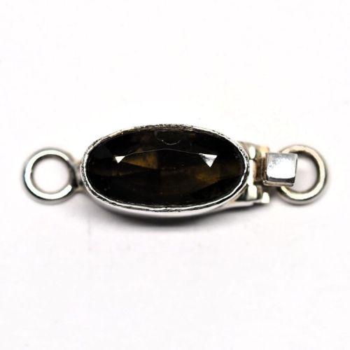 Tiny dark topaz clasp