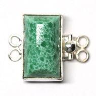 Green alabaster bracelet clasp