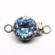 Light sapphire Swarovski round clasp