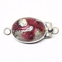 Dark rose silver foil clasp
