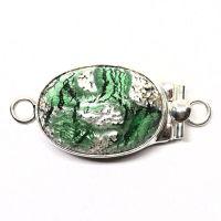 Emerald silver foil clasp