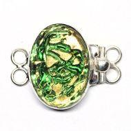 Green tendril bracelet clasp