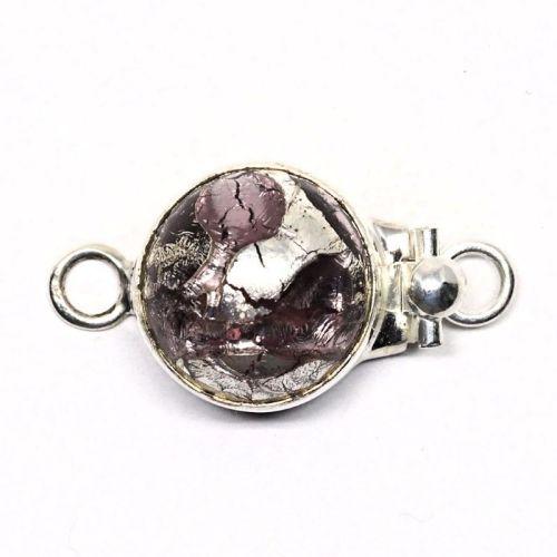 Purple silver swirl clasp