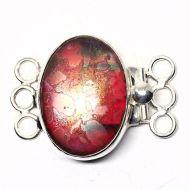 Red sunset bracelet clasp