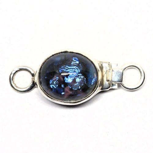 Faux blue opal clasp
