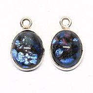Faux blue opal earring drops