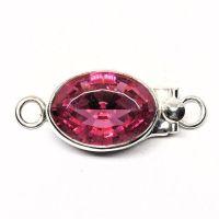 Oval Swarovski rose clasp