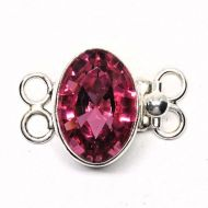 Oval Swarovski rose bracelet clasp