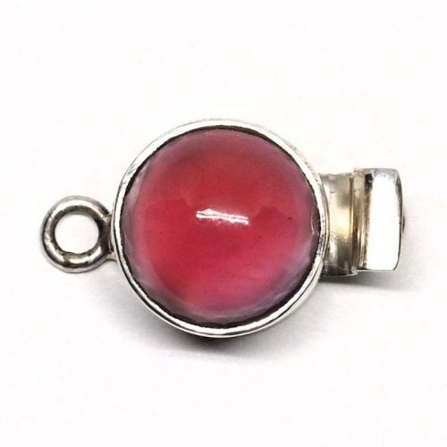 Pink cat's eye clasp