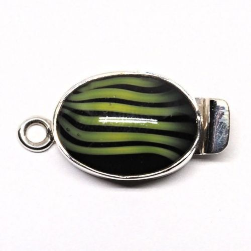 Small lime stripe clasp