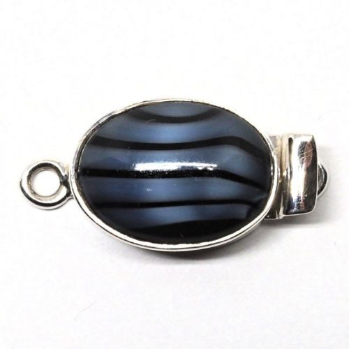 Black and blue clasp