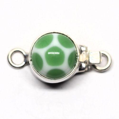 Small green polka dot clasp