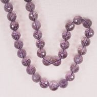 10 mm faceted light amethyst beads