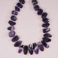 Big amethyst faceted chunks