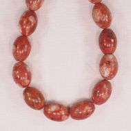 18 mm by 12 mm river coral oval beads