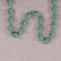 Vintage German turquoise twist beads