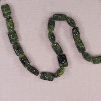12 mm by 8 mm vintage German rectangle beads