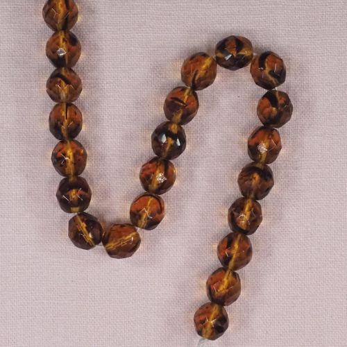 10 mm round Czech cut glass beads
