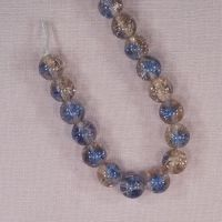 10 mm blue and pink cracked glass beads