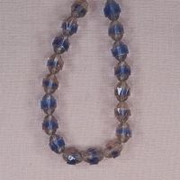 10 mm vintage Czech blue and pink bicone beads