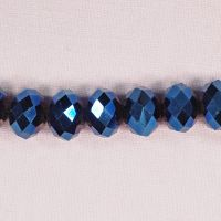 12 mm by 16 mm midnight blue faceted rondelles